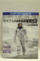 Interstellar(3-Disc Blu-ray/DVD,2015)Sci-fi Thriller.McConaughey