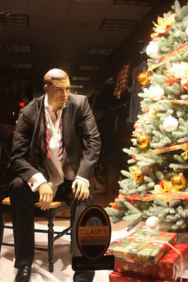 Sitting Mannequinmanikin Christmas Display Male Sitting Manequin-joe 1pedestal