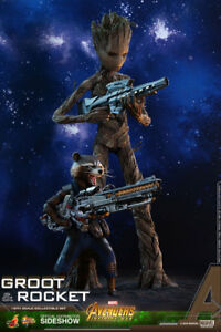 Groot & Rocket (Hot Toys) *BRAND NEW!* FREE GTA Delivery