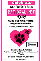 $1.00 Pet Nail Trims - Celebrate National Pet Day with us!