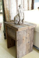 RUSTIC WEATHERED WOOD END TABLES, COFFEE TABLES, MADE TO ORDER