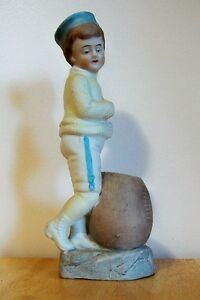 Vintage Victorian Footballer Bisque Match Holder