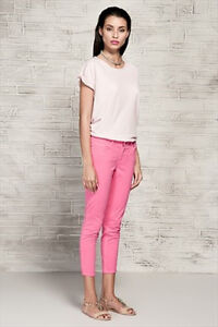 Zara Basic Pink Super Slim Fit Regular Rise Cropped Jeans SZ 12