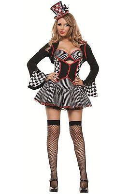 Sexy Starline Mayhem Hatter Dress Woman's Deluxe 5pc Costume Set #S4266