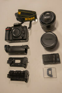 D7100 + 2 lenses + Battery Grip + all accessories