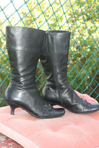 Leather lined Dress Boots Size 9/Euro 40