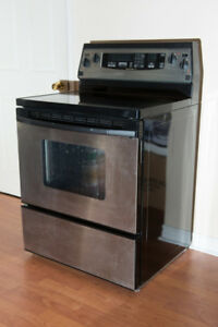 "KitchenAid Superba electric range oven 30"" width 24"" depth"