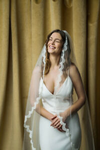 Cathedral Length Mantilla Style Wedding Veil