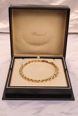 MAGNIFICENT CHOPARD SWISS 18K GOLD DIAMOND NECKLACE W ORIGINAL BOX