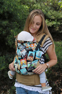 Tula standard size baby carrier. Travel bug print