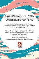 CALLING ALL OTTAWA CREATIVES, ARTISTS, VENDORS, AND BAKERIES!
