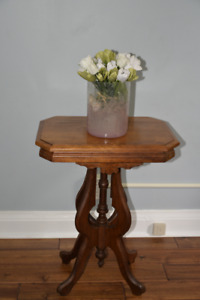 Antique walnut end side table