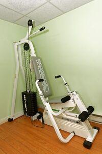 Équipement d'exercices Weider et altères
