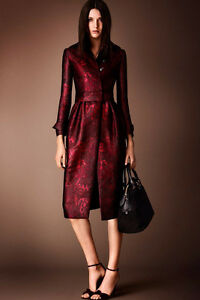 New Silk Burberry Prorsum Coat with tags, SZ 4