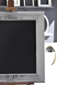Cadre vintage bois rustique peint - black board - frame