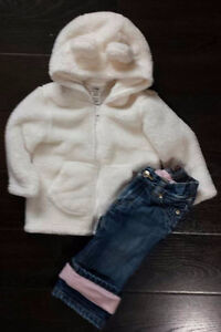 Baby girl fall/winter clothing size 6-12 months