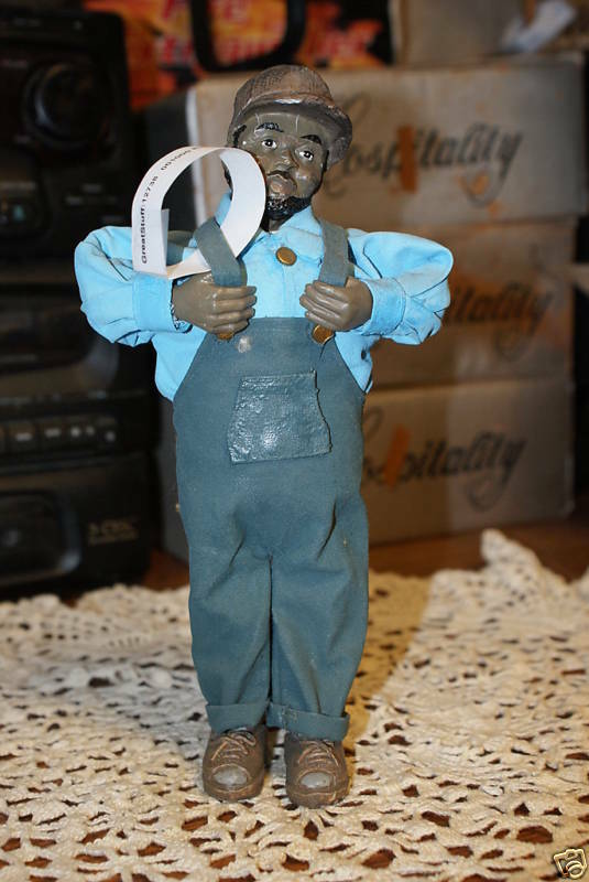 Vintage Black Americana Male Cotton Picker Doll