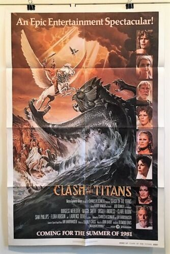 Clash of the Titans - Original Movie Poster - 1981 - Hamlin  *Hollywood Posters*