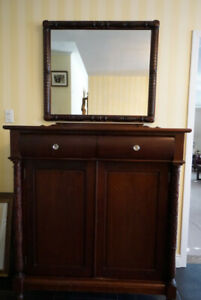 Early 1900  Solid Mahogany dresser