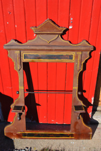 Victorian Tea Towel Rack Made From Painted Dresser Mirror Frame
