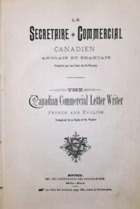 Le Secrétaire Commercial Canadien, Anglais et Français, 1894 !