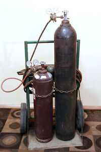 Complete Oxy Acetylene Torch Set w/  CART & TANKS SEE VIDEO