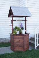 Rustic Wishing Well - New - Hand Built