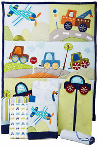 "Lambs & Ivy crib bedding, ""Little Traveler"""
