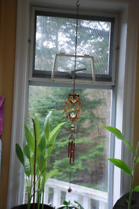 Hanging owl suncatcher garden decor ornament