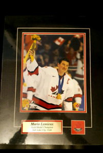 Mario Lemieux Team Canada Gold Medal photo pin name NEW sealed