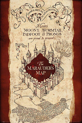Harry Potter  Marauders Map Poster Print  24X36