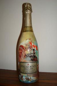 President Cuvee 2000 Canadian Champagne Commemorative Bottle