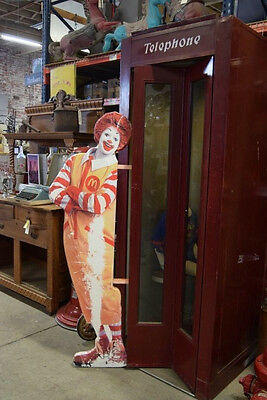 Vintage Ronald Mcdonald Menu Sign Stand Mcdonalds 5 7