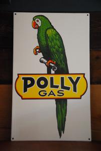 Publicité porcelaine Polly Gas