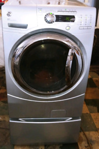 Ge super capacity front load washer with drawer works great