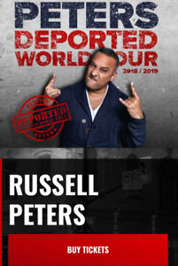 Russell Peters Tickets Center floor ROW 10