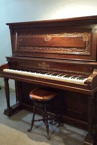 PIANO - UPRIGHT GRAND PIANO - HEINTZMAN made in 1904