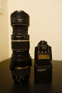 Canon Lens & Flash (Negotiable - OBO)