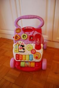 pink toddler learning walker