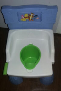 Winnie the Pooh Potty - makes flushing sound. Sold PPU