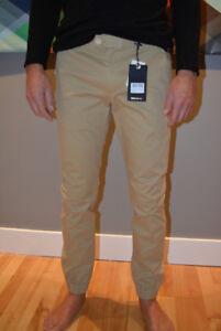 Pantalon chino Scotch & Soda Slim fit Beige NEUF/Étiquette 31/34