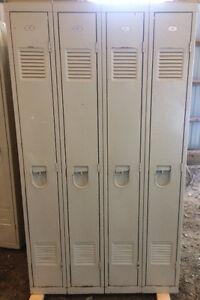 Antique / Vintage metal lockers - 1955