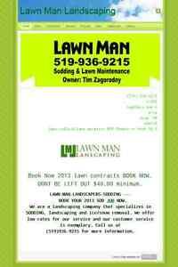 lawn  man  installation London Ontario image 1