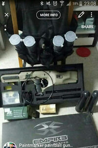 Defender paintball set up
