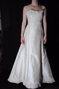 Rivini Ivory Wedding Dress - NEVER WORN NEVER ALTERED - Size 8