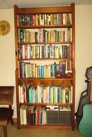 Cedar Book Case with Books