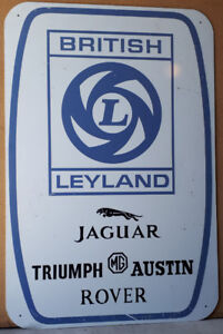 British Leyland dealer sign advertising Jaguar MG Rover Triumph