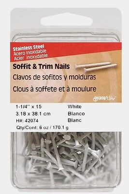 Hillman Flat 1.25in. L Soffit Trim Nail Smooth Stainless Steel 15 G. 6oz 42074