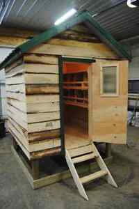 Large 6 x 6 insulated chicken coop with nesting boxes