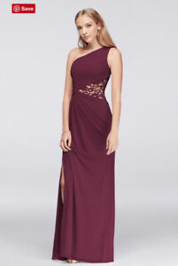 b4f41c5418b David s Bridal Bridesmaid Dress - Size 4 - Colour Wine Burgundy